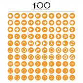 Sada 100 základní šíp znamení ikony
