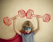 Fényképek szuperhős gyermek