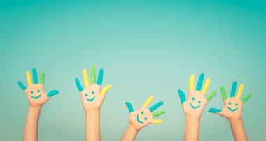 Smiley hands on hands