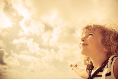 Sailor kid looking ahead
