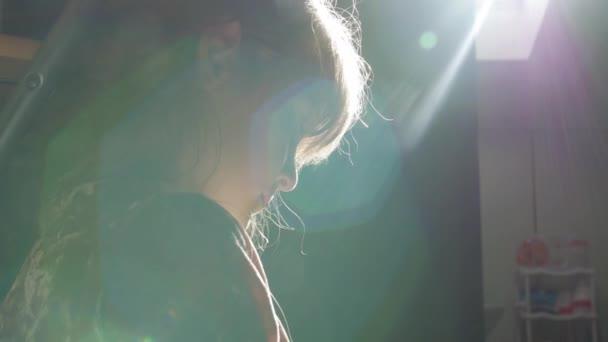 Little Girl Sun Glare