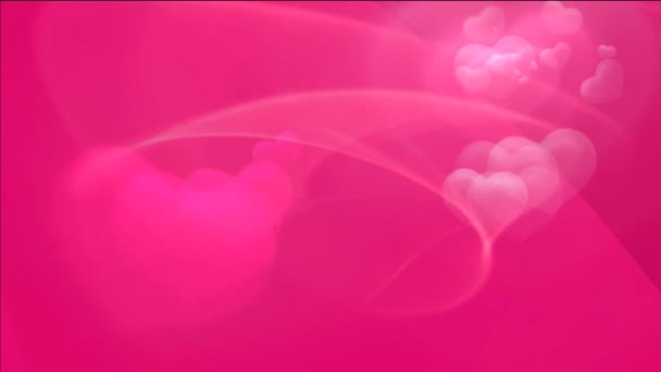 Pink Wedding Footage Video Background On Your Wedding Video Animated Hearts With Pink Background