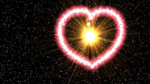 Srdce záběry s chroma klíč. Záběry pro svatební video. Video na pozadí s animovaným srdce. Animované pozadí záběrů pro filmy nebo přání. Video na pozadí pro milovníky nebo prezentaci