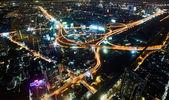 Multi úrovni zásobníku výměnu v Bangkoku