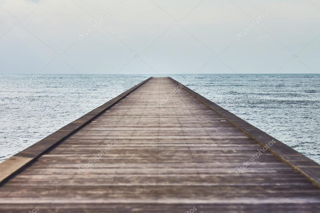 Wooden pier in tropical sea
