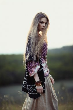 Beautiful hippie girl