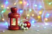 Fotografie Weihnachtsdekoration auf Lichter