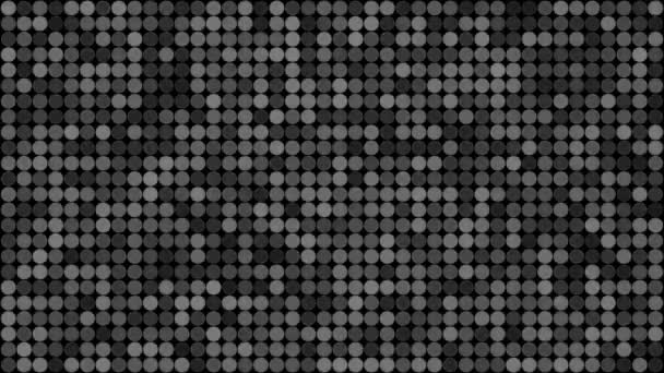 Abstract blinking disco grey circles seamless pattern background