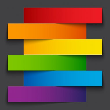 Rainbow paper stripe banners