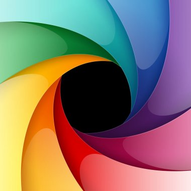 Swirly colorful paper background. Vector illustration clip art vector