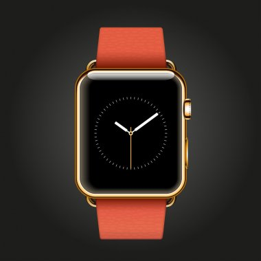 18-karat yellow gold smart watch