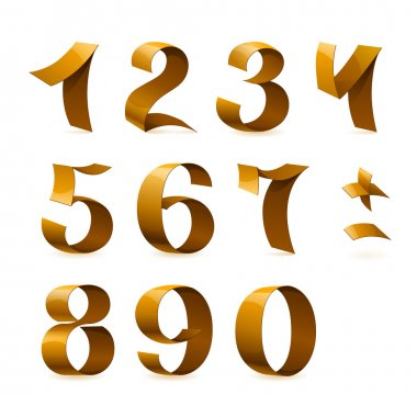 Isolated shiny golden ribbon numbers