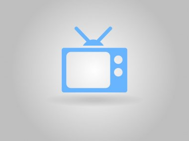 Flat icon of tv stock vector