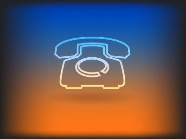 Flat icon of a phone stock vector