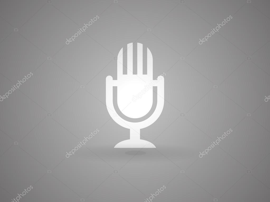 Mikrofonsymbol — Stockvektor © ArchManStocker #54677213