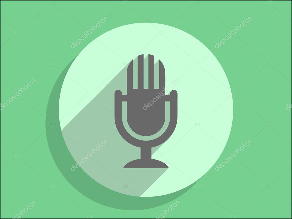 Mikrofonsymbol — Stockvektor © ArchManStocker #54691037