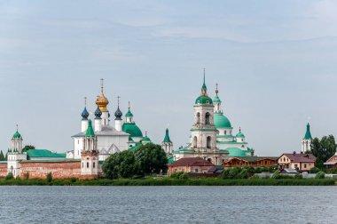 View of Spaso-Yakovlevsky Monastery in Rostov from Nero's lake.