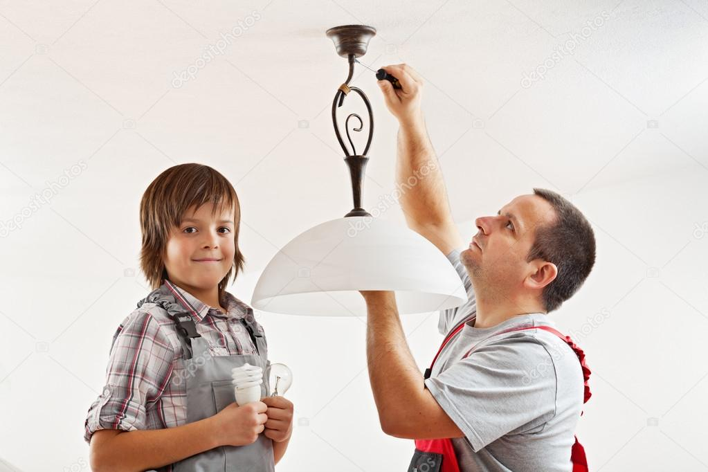 Changing the incandescent lightbulb with a fluorescent one