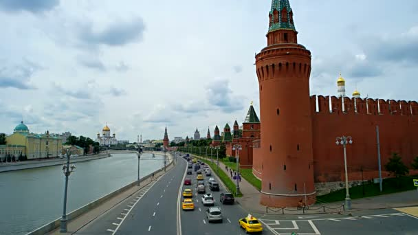 Cityscape of Moscow with Kremlin and embankment