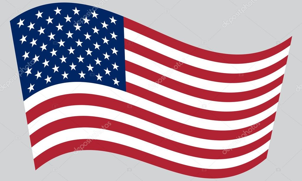 Bandera De Los Estados Unidos Ondeando