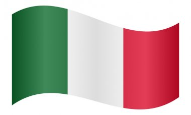 Flag of Italy waving