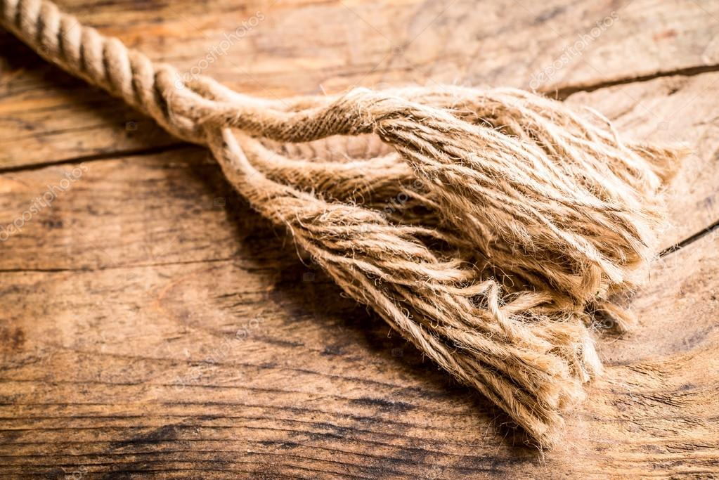 cuerda de camo deshilachado Foto de stock leporiniumberto