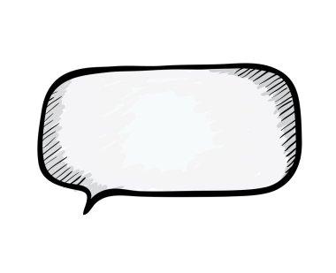 Speech bubble. Sketch vector illustration.