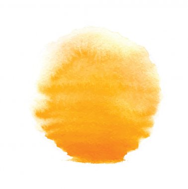 Watercolor sun, vector illustration, isolated on white background clip art vector