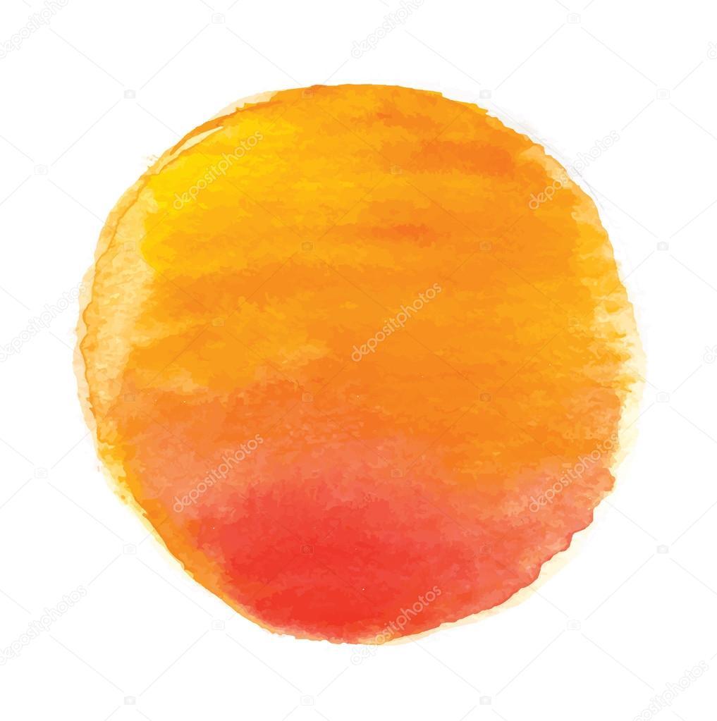 watercolor sun, vector illustration