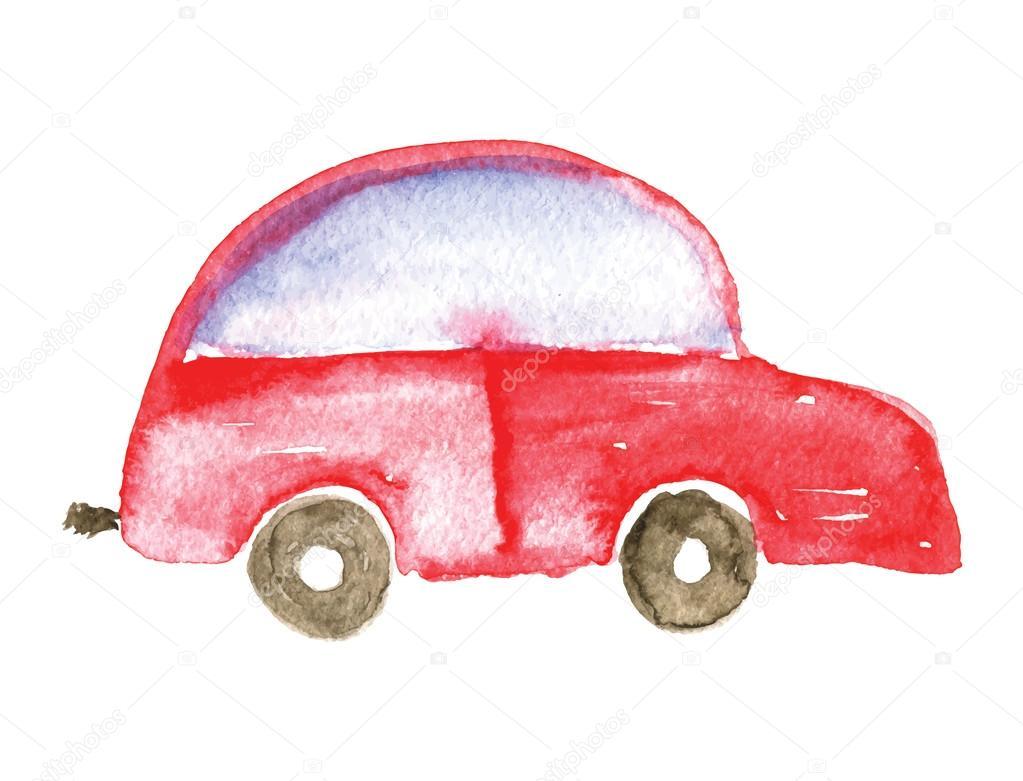 Kinder Auto Zeichnen Vektor Illustration Stockvektor Wasja