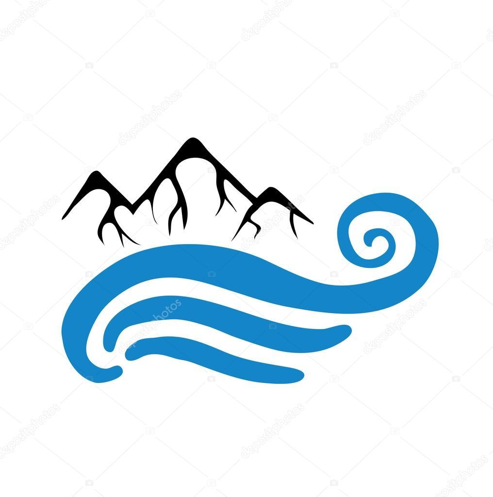 mountain and sea or river vector logo stock vector c wasja 79695678 mountain and sea or river vector logo stock vector c wasja 79695678
