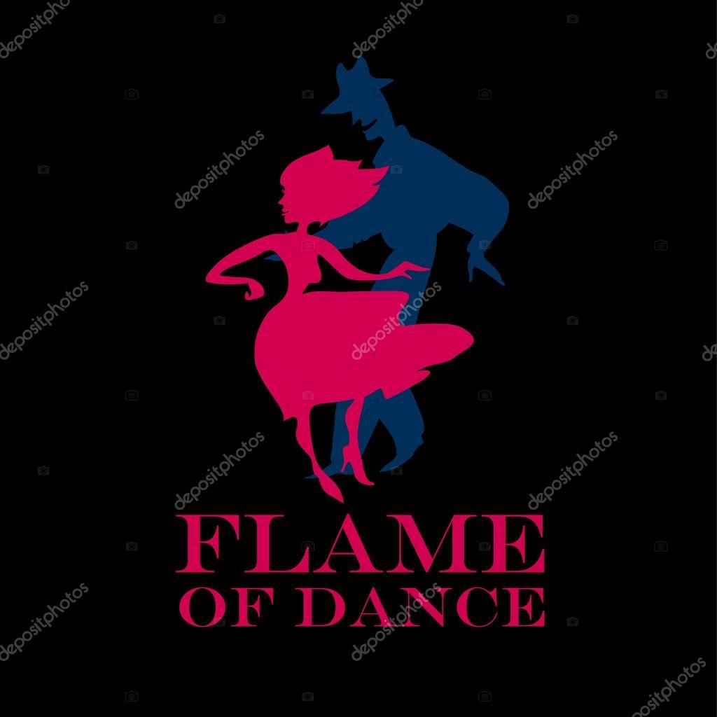 Black background salsa poster. couple dancing latin dance vector