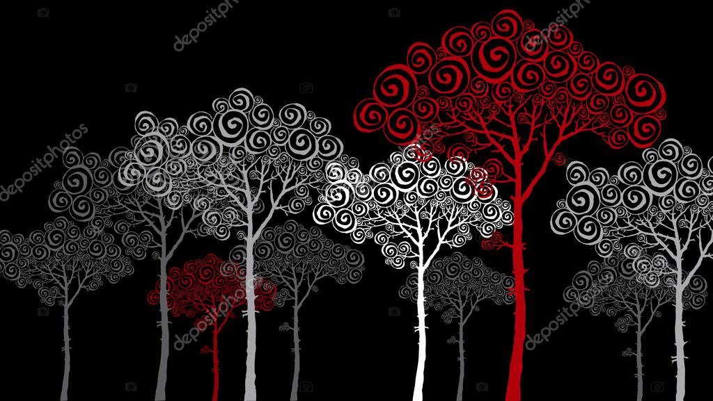 red pine decorative panno