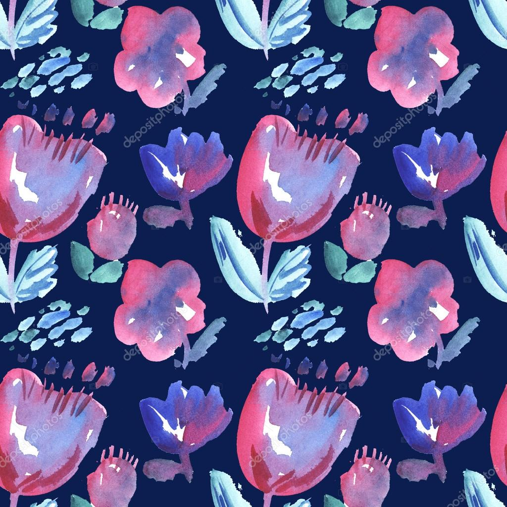 decorative stylised flowers pattern