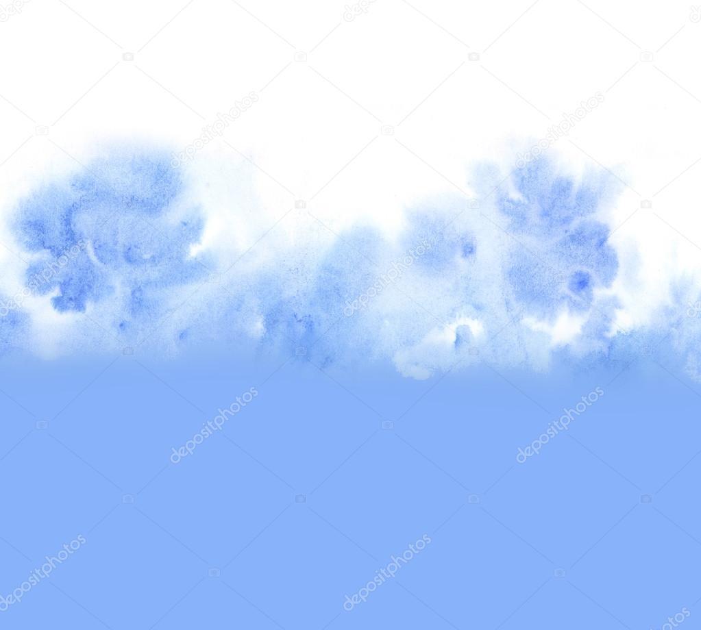 雲空背景の水彩画手で描いたイラスト — ストック写真 © galyna #116031842