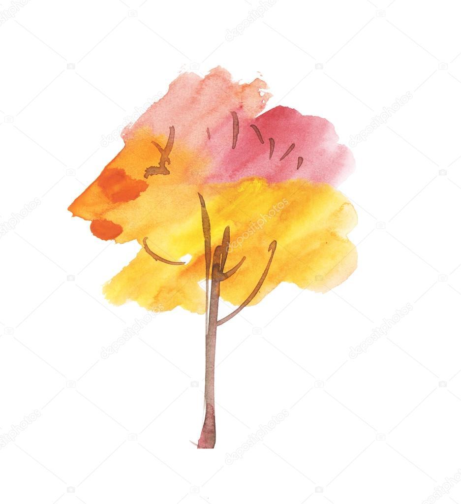 Arboles Para Pintar Con Acuarelas Símbolo Del árbol Abstracto