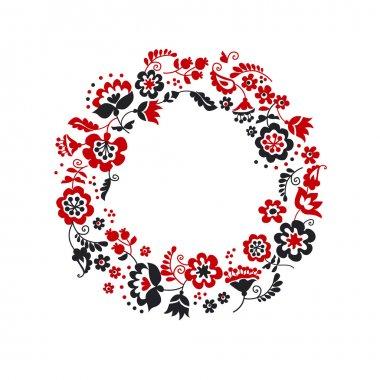 traditional european ukrainian wreath ornament. rustic floral co