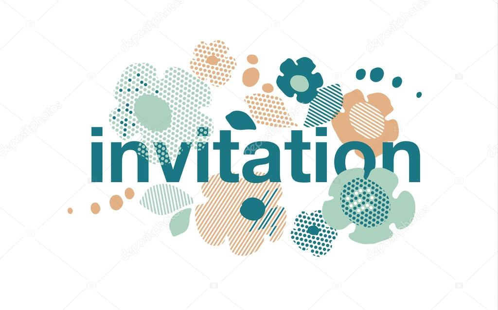 Abstract pale color floral summer invitation template modern te abstract pale color floral summer invitation template modern te vetores de stock stopboris Image collections