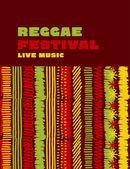 Fotografie reggae music classic color background. Jamaica poster vector ill