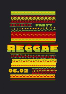 retro traditional decorative pattern. reggae color music backgro