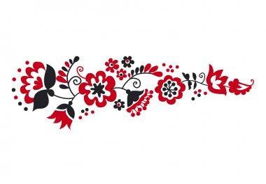 traditional european ukrainian ornament. rustic floral compositi