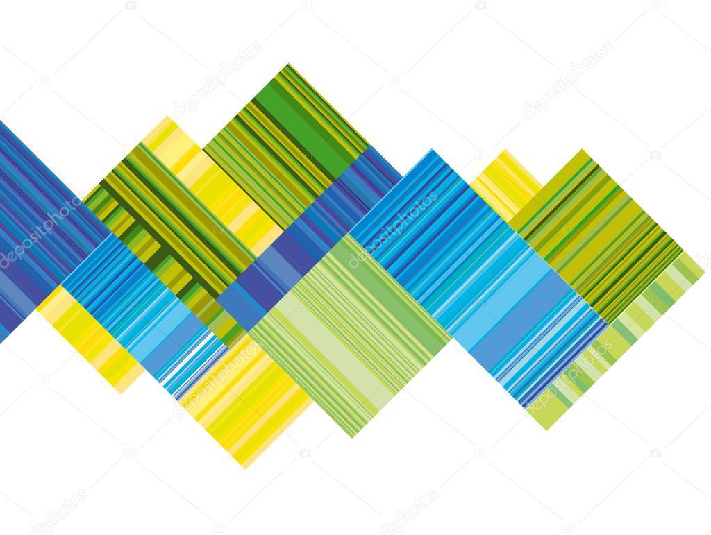 Encabezado Vector Azul Y Verde