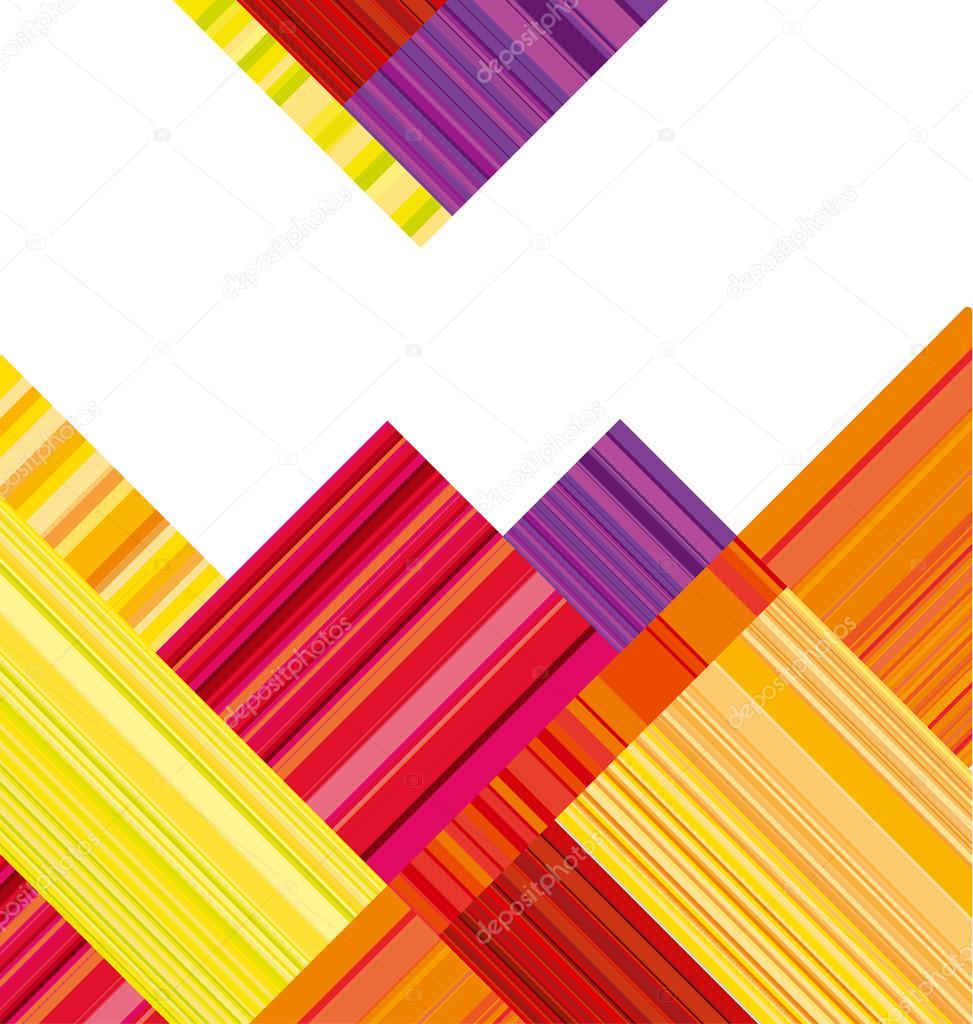 Encabezado Resumen De Rojo Y Naranja. Vector Fondo De