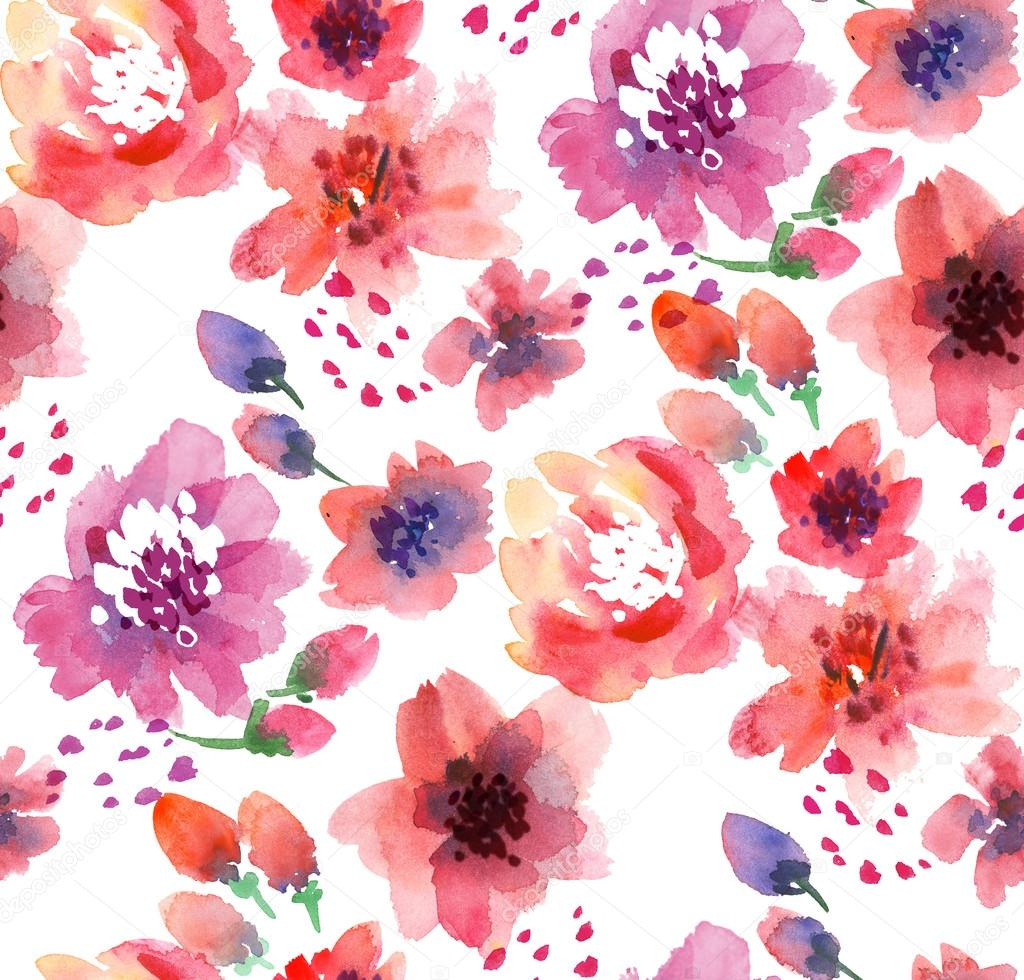 Watercolor flowers illustration — Stock Photo © Galyna