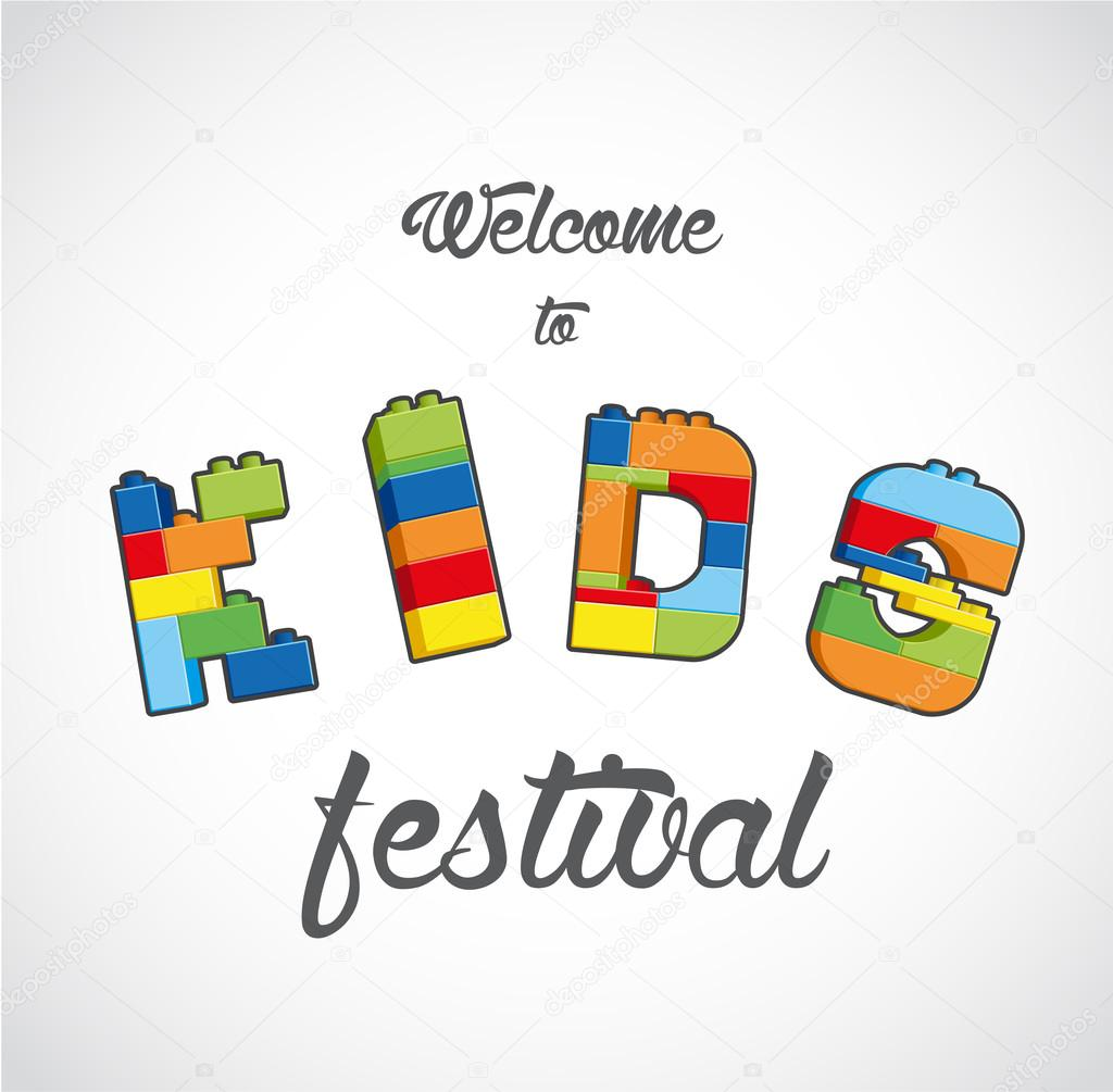 Willkommen bei Kids Festival laden Vorlage — Stockvektor © kormi ...
