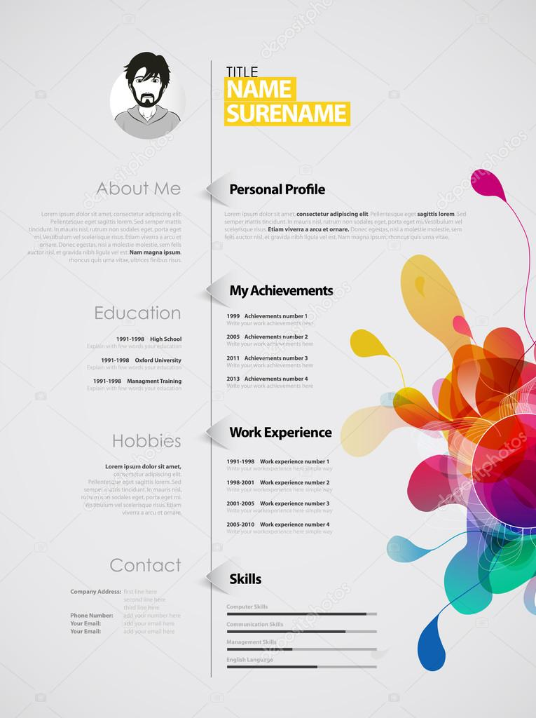 Creative Color Rich Cv Resume Template Stock Vector C Kormi