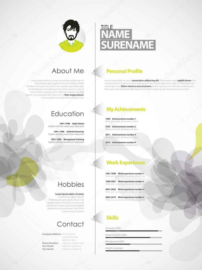creative color rich cv resume template with grey abstract spl