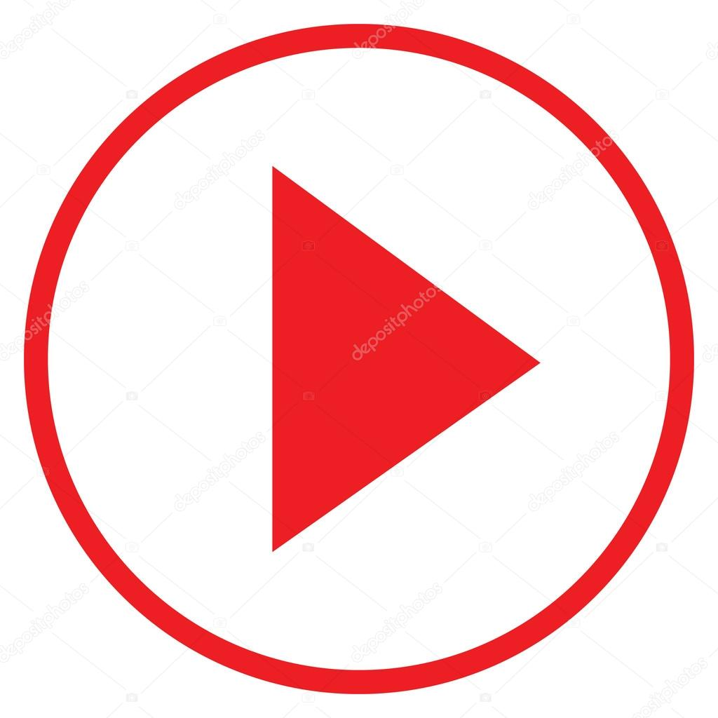 Modern Red Circle Youtube Icon Stock Vector Bigxteq