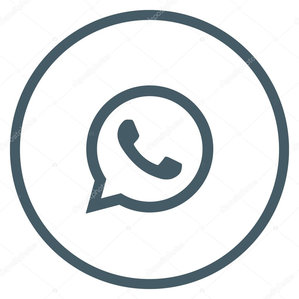 icono web whatsapp azul original � vector de stock