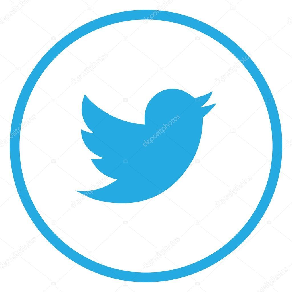 Modern Blue Circle Twitter Bird Icon — Stock Vector ...